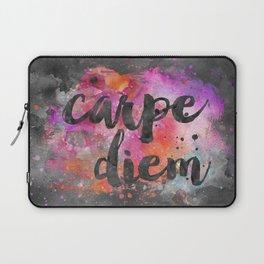 Carpe diem colorful watercolor handlettering Laptop Sleeve