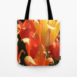 Golden Blooms Tote Bag