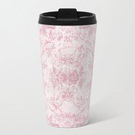 Spring Skulls Floral Background Travel Mug