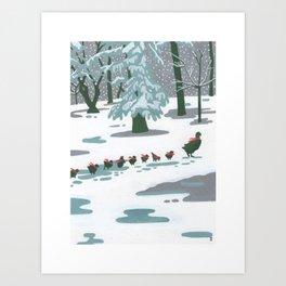 Duckling Statue - Boston Landmarks Art Print