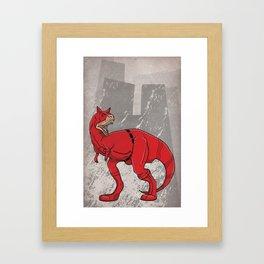 Daredevilnotauros - Superhero Dinosaurs Series Framed Art Print