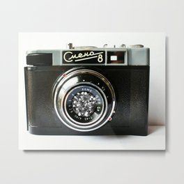 Old Spparatus I Old camera I Smena 8 I Magic picture I Photography I Art print  Metal Print