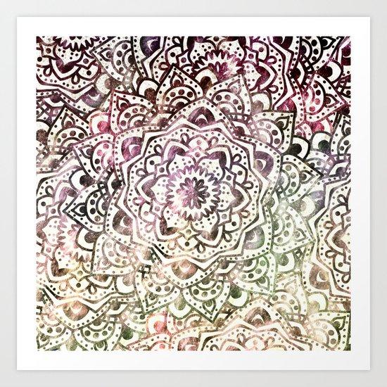 STARRY DAY MANDALA Art Print