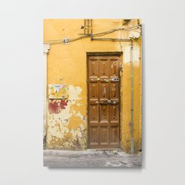 Yellow Door #47 Malaga Metal Print