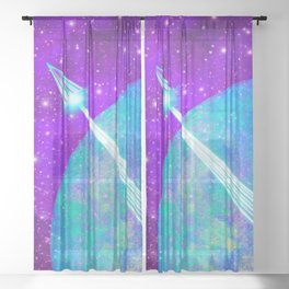 Off Planet Sheer Curtain