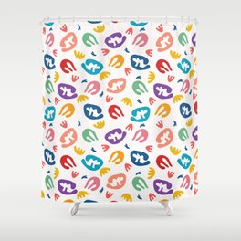 Abstract organic cut out shapes. Shower Curtain