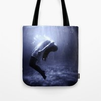 underwater Tote Bags featuring Underwater by EclipseLio