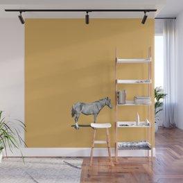 hello mr. horse (mustard edition) Wall Mural