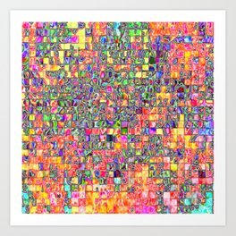 Neon Abstract and Pattern Art Print
