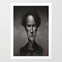 clint eastwood Art Prints featuring Clint Eastwood by AndreKoeks