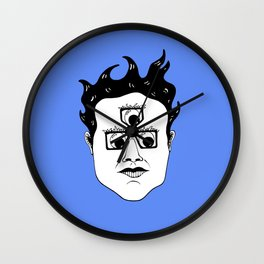 Gool Third Eye Pince Nez Wall Clock
