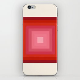 Buggin' Out - retro 70s throwback minimal art 1970s style abstract colorful iPhone Skin