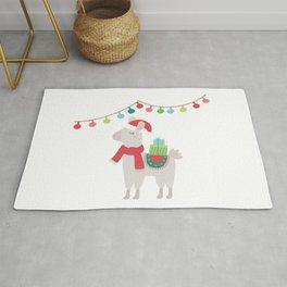 Christmas llamas V Rug