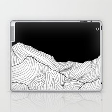Lines in the mountains - b&w Laptop & iPad Skin
