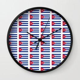 Flag of Cuba 2 -cuban,havana, guevara,che,castro,tropical,central america,spanish,latine Wall Clock