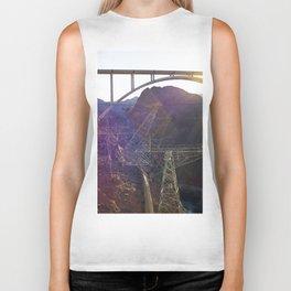 Hoover Dam Electicity Towers Biker Tank