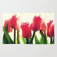 tulips Area & Throw Rugs featuring Tulips by 2sweet4words Designs
