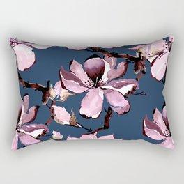 Watercolor Cherry Flowers XII Rectangular Pillow