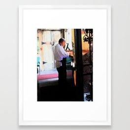 New Orleans Waiter Framed Art Print