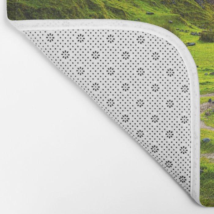Fairytale Landscape, Isle of Skye, Scotland Bath Mat