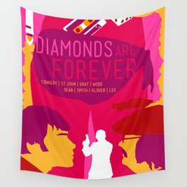 James Bond Golden Era Series :: Diamonds Are Forever Wall Tapestry