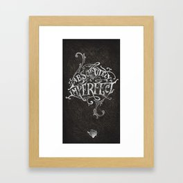 Absolutely Imperfect Framed Art Print