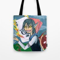 cheshire Tote Bags featuring Cheshire by SofusGirl