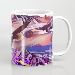 An Eagle Flying High Above the Mountains Coffee Mug