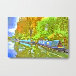 Little Venice London Pop Art Metal Print