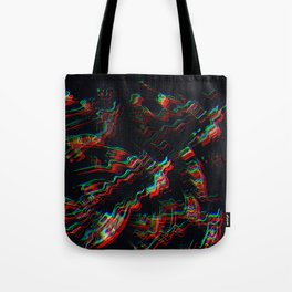 TRIPPY COLORFUL WATER RIPPLES Tote Bag