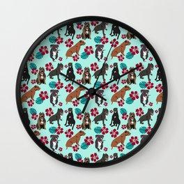 Pitbull Rescue Dogs Wall Clock