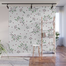 Holiday Floral Wall Mural