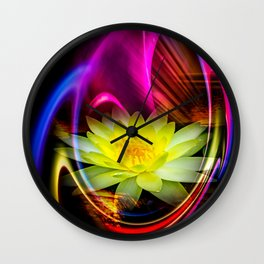 Flower Magic -Water lily Wall Clock