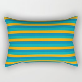 TEAM COLORS 3 ORANGE , TEAL  Rectangular Pillow
