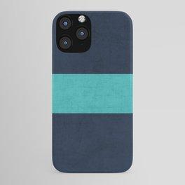 classic - navy and aqua iPhone Case