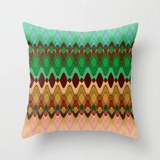 Pattern indian summer Throw Pillow