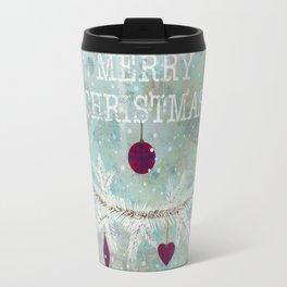 New Year. Grunge blue . Travel Mug