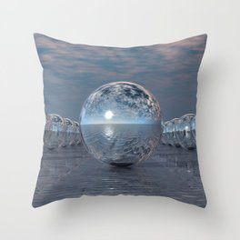 Spheres In The Sun Throw Pillow