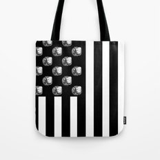 US MiniFigure Flag - Vertical Tote Bag