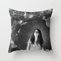 sci fi Throw Pillows featuring Sci-Fi by Melissa Smith