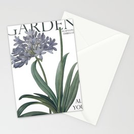 Victoria's Garden, feat. Agapanthus Umbellatus, Magazine Cover Stationery Cards