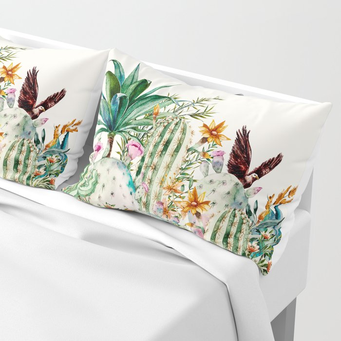 Blooming in the cactus Pillow Sham