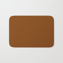 Classic Christmas Red and Green Houndstooth Check pattern Bath Mat