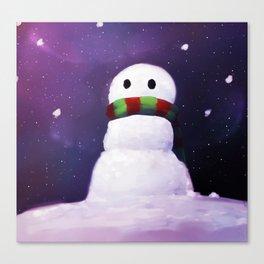 Starry Snowman Canvas Print