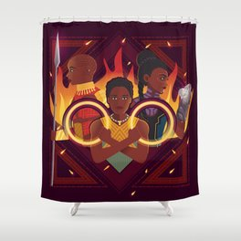 Women of Wakanda v2 Shower Curtain