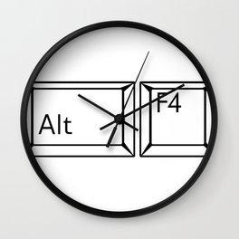 Alt F4 Buttons Wall Clock
