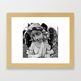 Cracked angel Framed Art Print