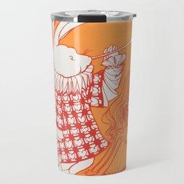 Alice In Orange Travel Mug