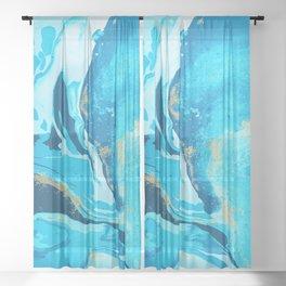 Watercolor Splash Background Sheer Curtain
