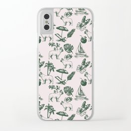 Tropical Dogs Clear iPhone Case